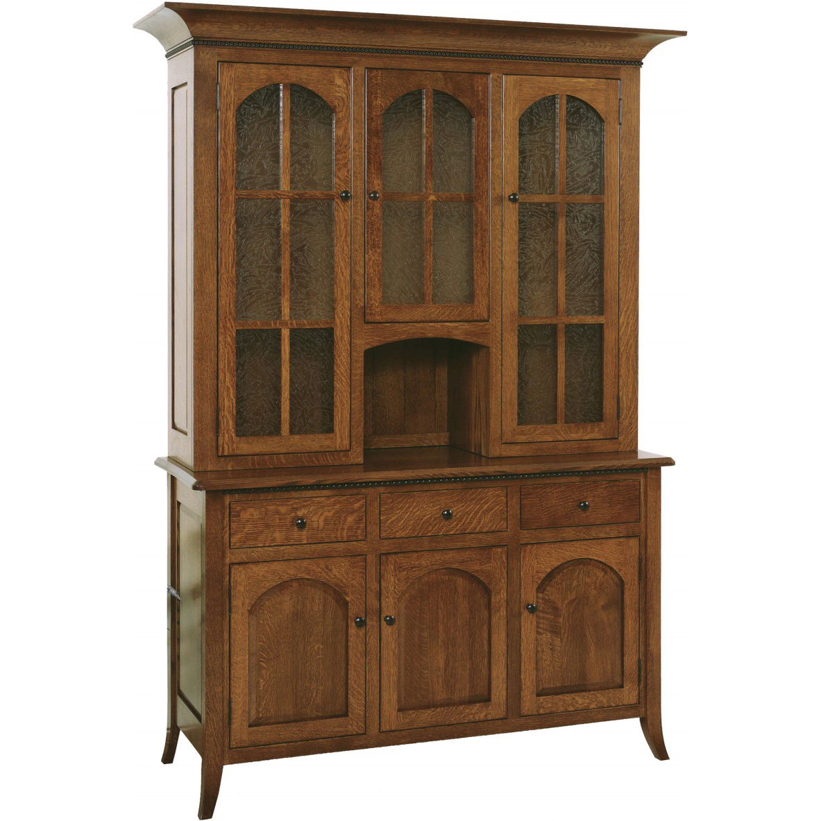 Bunker Hill Three Door Hutch Amish Crafted Furniture