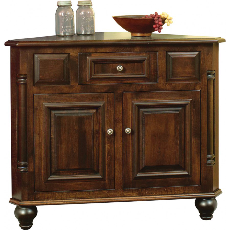 European Collection Corner Buffet Amish Crafted Furniture