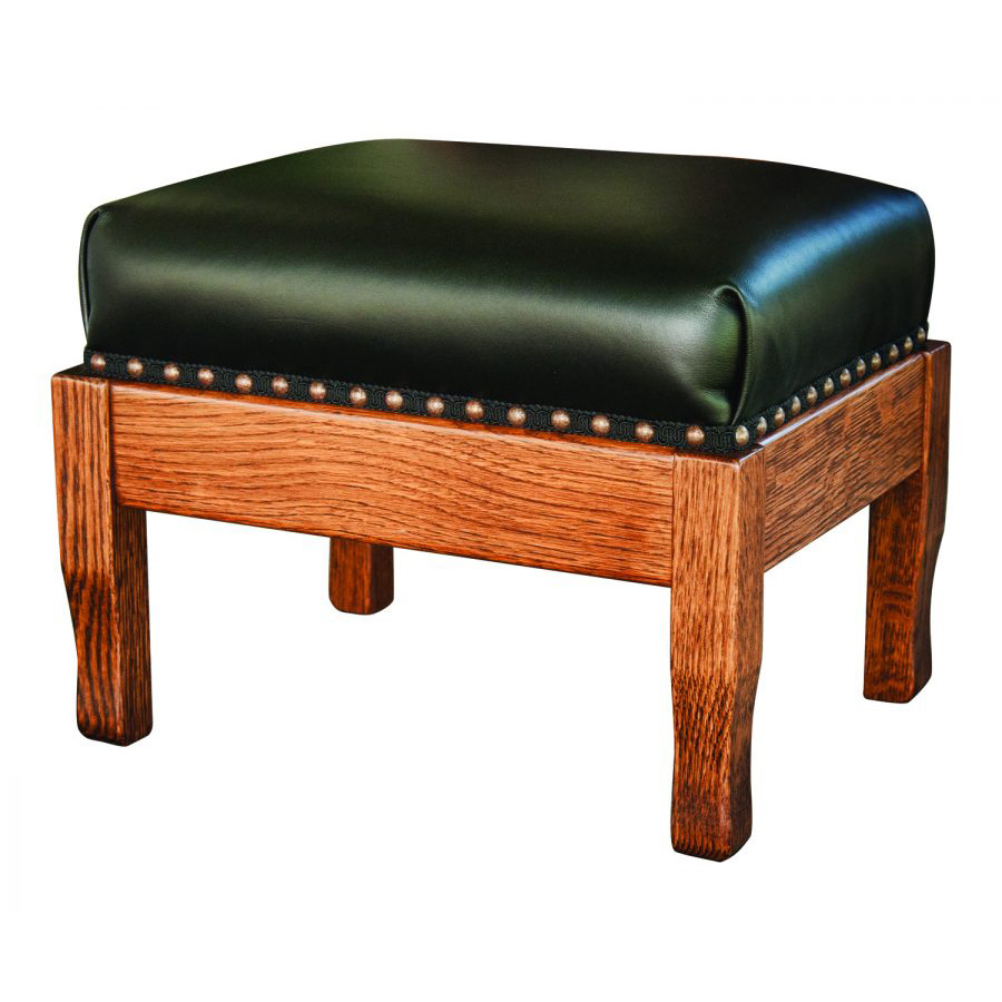 contemporary living room with black leather sofa corner ideas footstool - amish crafted furniture