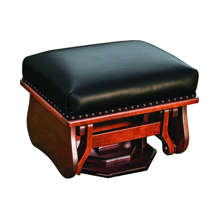 mission brown leather sofa best modern sofas under 1000 gliding ottoman - amish crafted furniture