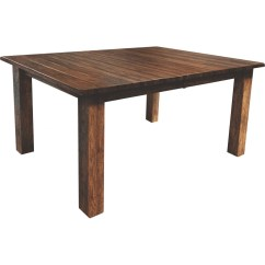 Rustic Kitchen Table Sets Stainless Steel Sinks Western Mission 42x60 - Amish Crafted Furniture