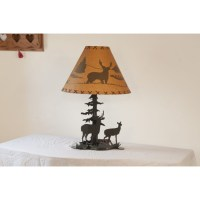 Deer Metal Desk Lamp - Amish Crafted Furniture
