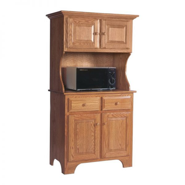 Traditional Microwave Cabinet  Amish Crafted Furniture