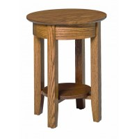 Aaron's Round End Table - Amish Crafted Furniture