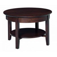 Aaron's Round Coffee Table - Amish Crafted Furniture
