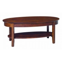 Aaron's Oval Coffee Table - Amish Crafted Furniture