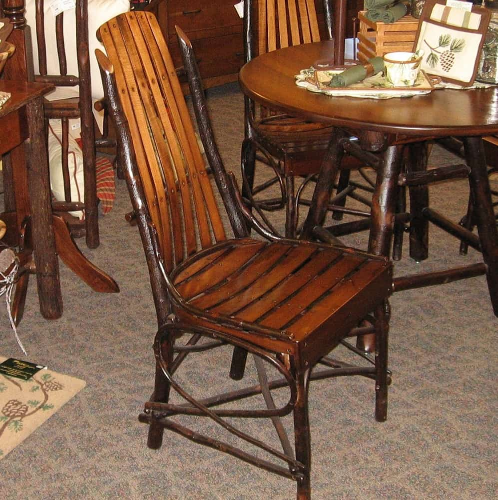 Rustic Hickory and Brown Maple Side Chair shown in Rustic