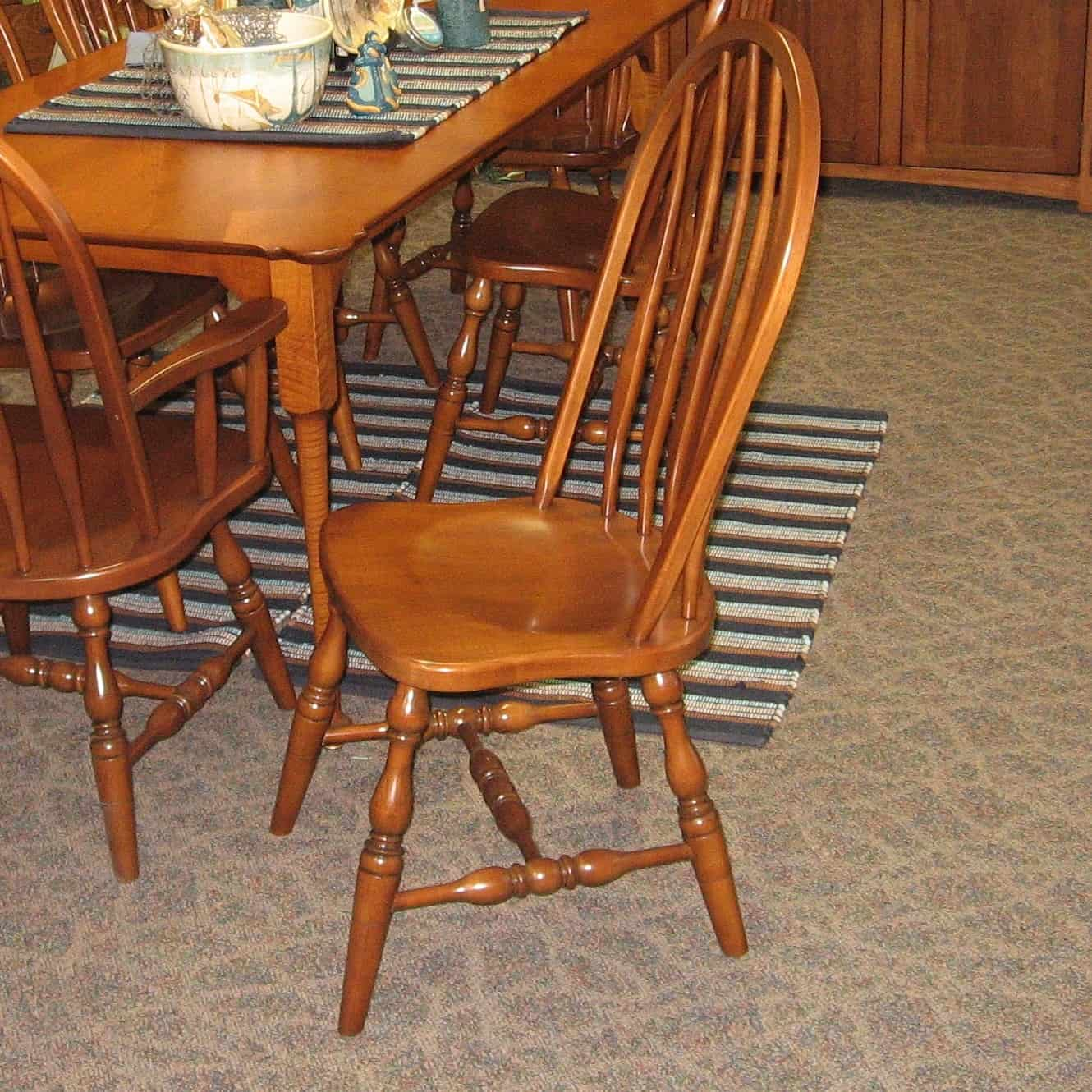 tiger oak dining chairs rattan papasan chair replacement cushion 36 quot x 72 porringer table shown in maple