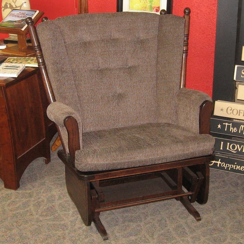 rocker recliner chair and a half foot rests for chairs four post - amish oak