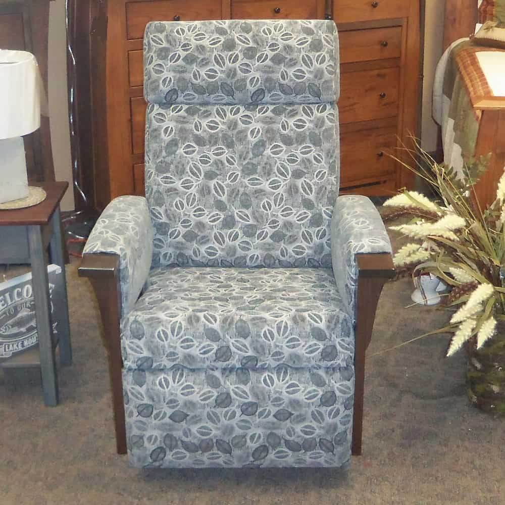 swivel office chair no arms replacement casters for chairs glider recliner w/fabric covered - amish oak