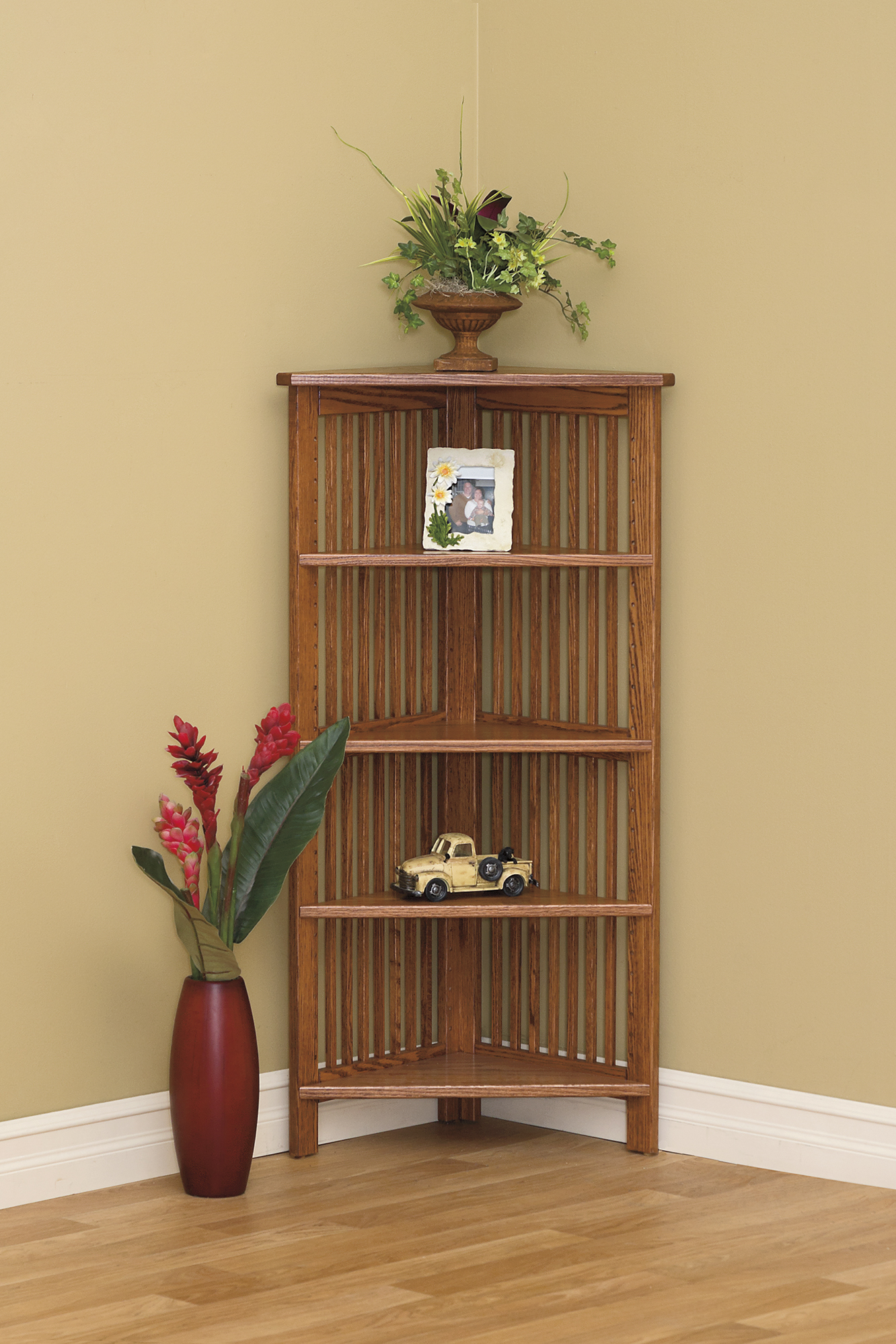 24W Corner Bookcase  Amish Furniture Connections  Amish