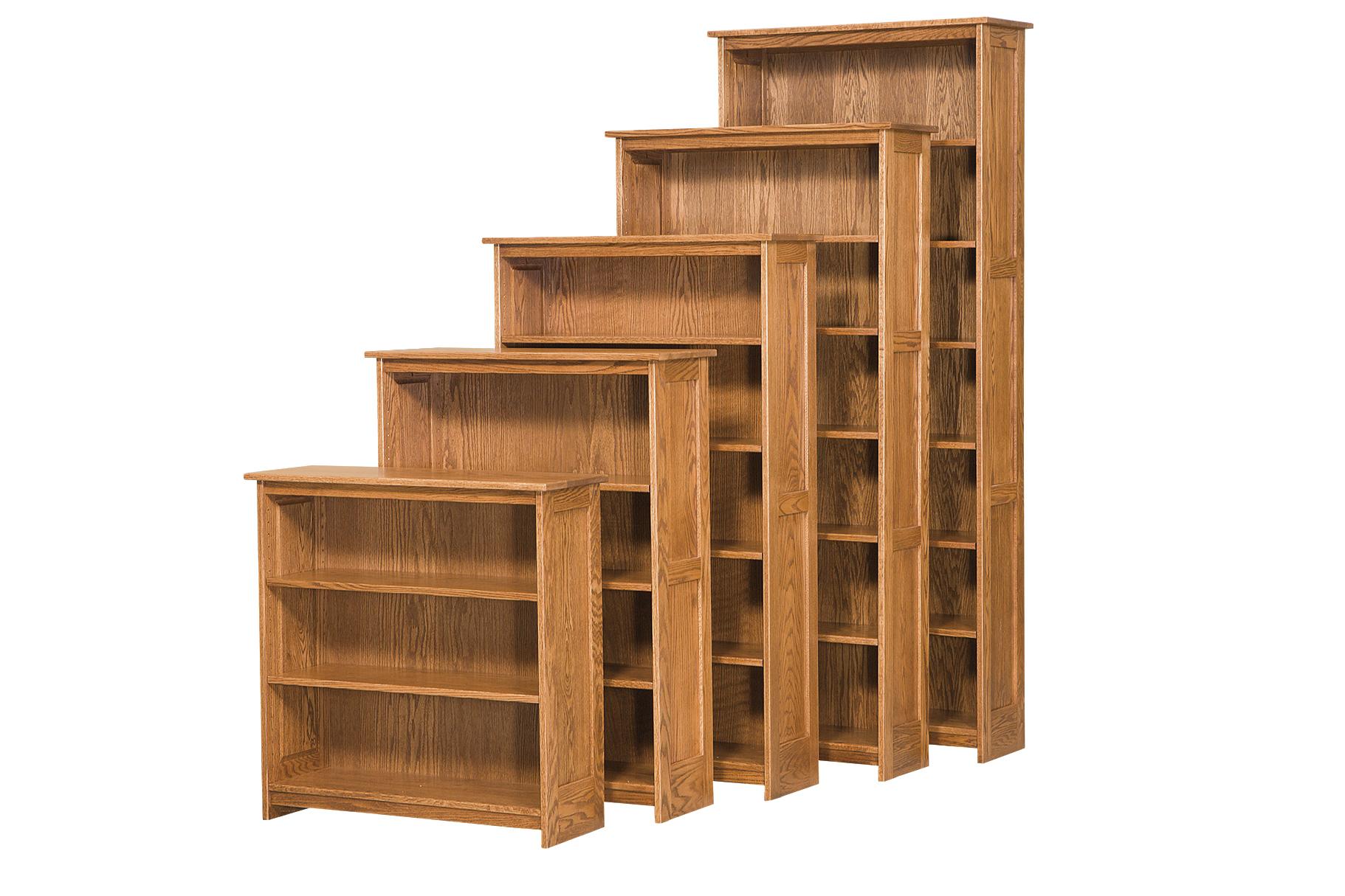 36W Mission Flat Panel Bookcase  Amish Furniture Connections  Amish Furniture Connections
