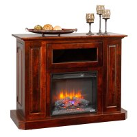 Deluxe Fireplace Entertainment Center - Amish Furniture ...