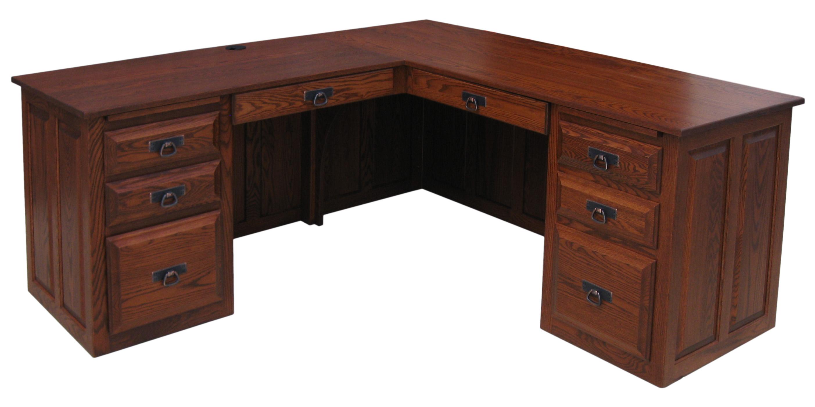 Traditional Executive Corner Desk  Amish Furniture Connections  Amish Furniture Connections