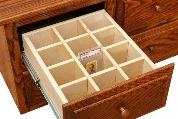 Graded Card Storage Cabinet  Amish Furniture Connections