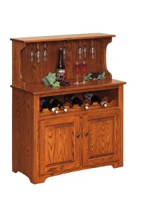 Wine Cabinet w/ Doors - Amish Furniture Connections ...
