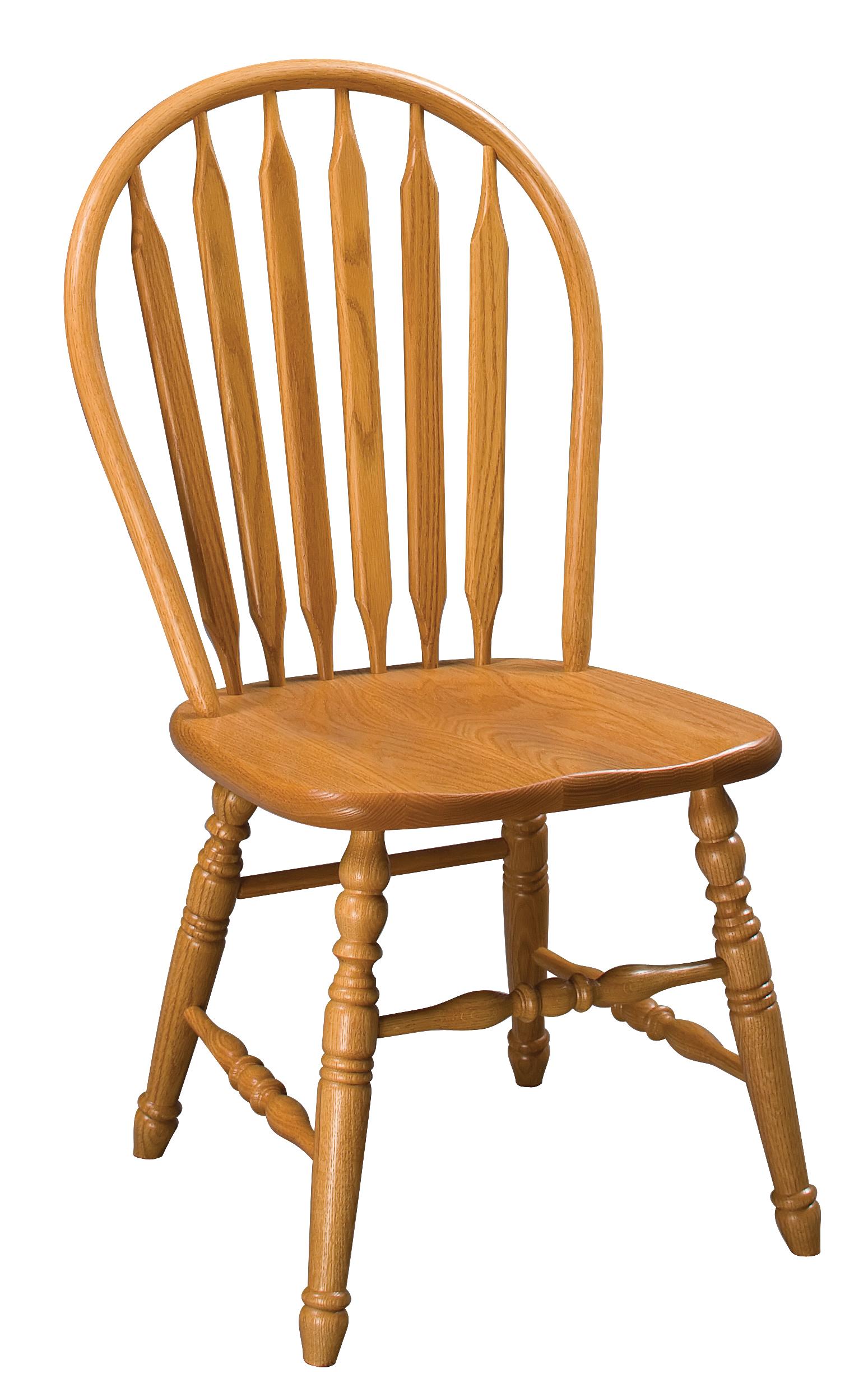 Paddle Back Windsor Side Chair  Amish Furniture