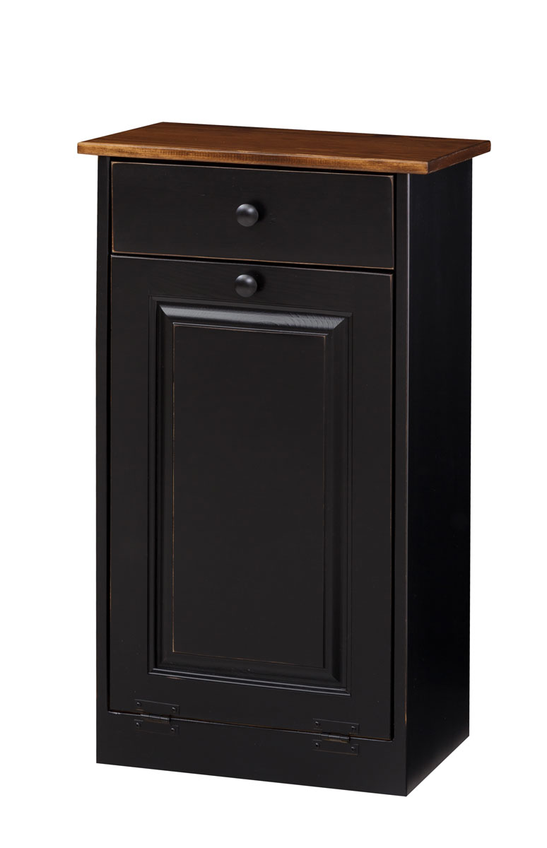 Trash Bin Cabinet w Wood  Amish Furniture Connections