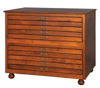 2 - Stackable Five drawer Flat File (10 Drawers Total ...