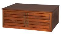 5 Drawer Flat File Cabinet w/o feet - Amish Furniture ...