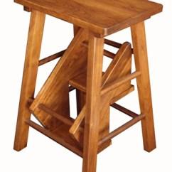 Folding Kitchen Step Stool 27 Sink Wooden | ...