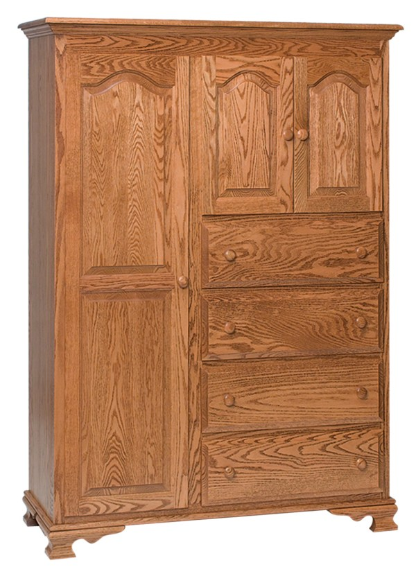 Chifferobe with 2 Mirror Doors and 4 Drawers