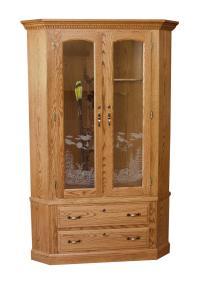Amish Originals | Corner Gun Cabinet