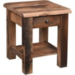 Up To 33 Off Rainier Reclaimed Barnwood End Table Amish Outlet Store
