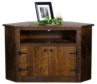 "Up to 33% Off Rustic 52"" Corner TV Cabinet in Brown Maple ..."