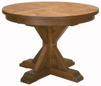 Alberta Single Pedestal Table in Dining Tables | Amish ...
