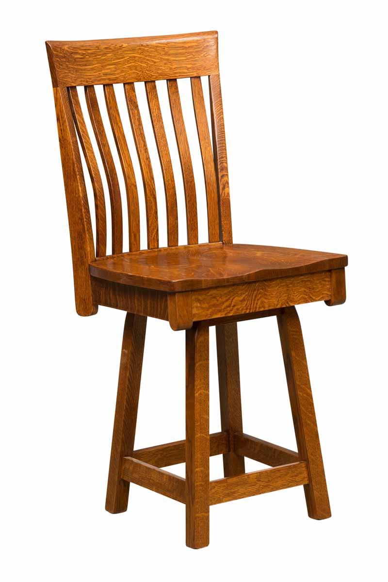 Baytown Swivel Bar Stool Buy Custom Amish Furniture