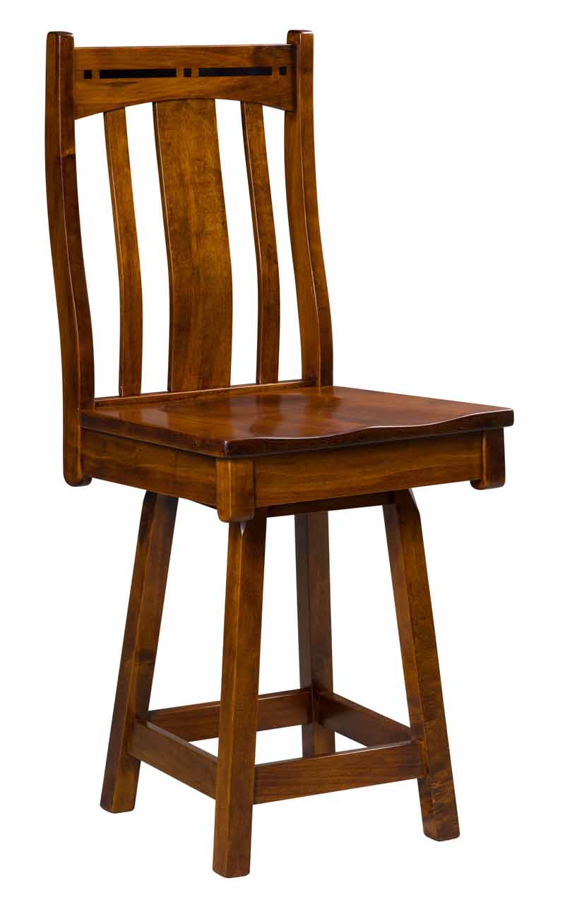 Boulder Creek Swivel Bar Stool Buy Custom Amish Furniture Amish Furniture For Sale In Coates