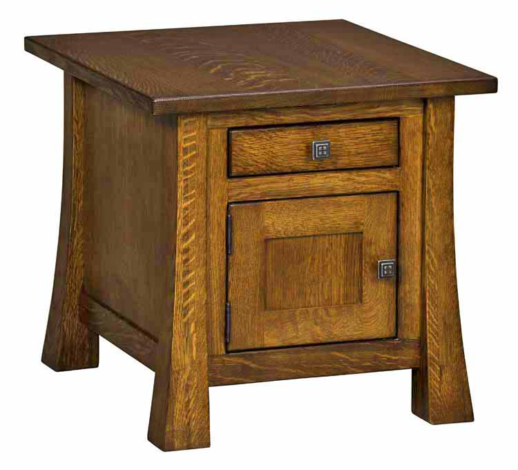 Lakewood Cabinet End Table in Living Room  Amish Furniture