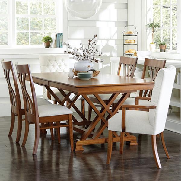Heyerly Trestle Table Buy Custom Amish Furniture Amish