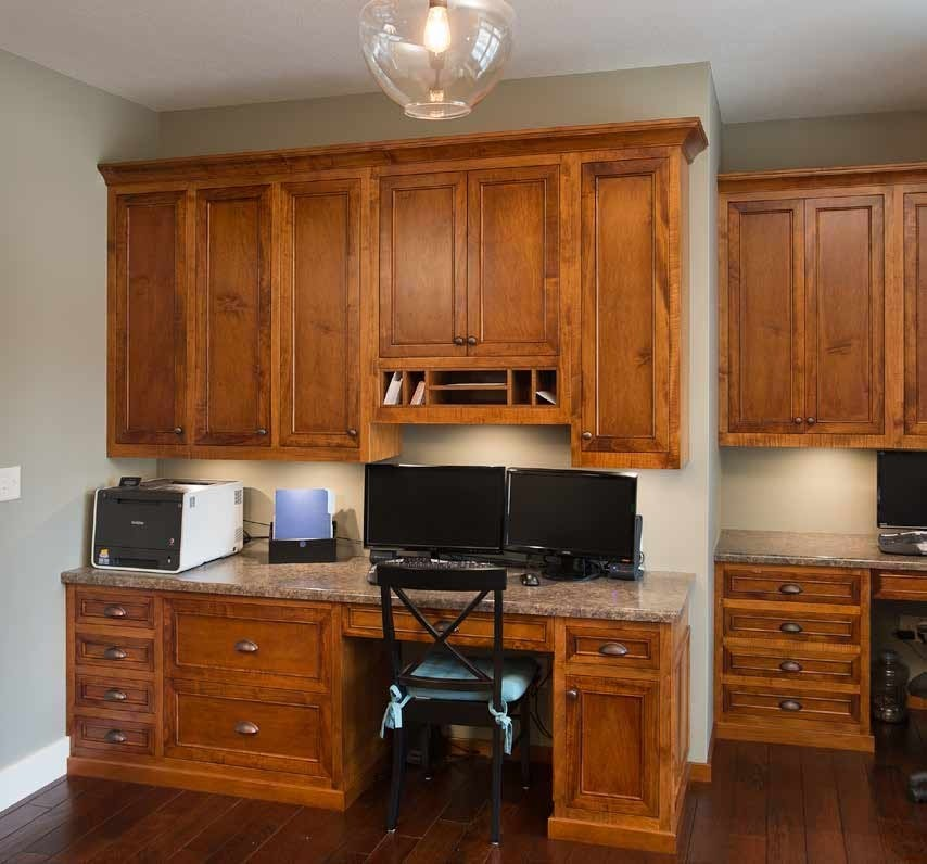 Custom BuiltIn Office  Solid Wood Amish Furniture  Made