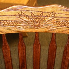 Collapsible Wooden Chair Best Bean Bag For Kids Acorn Arm With Wheat Pattern | Amish Traditions Wv