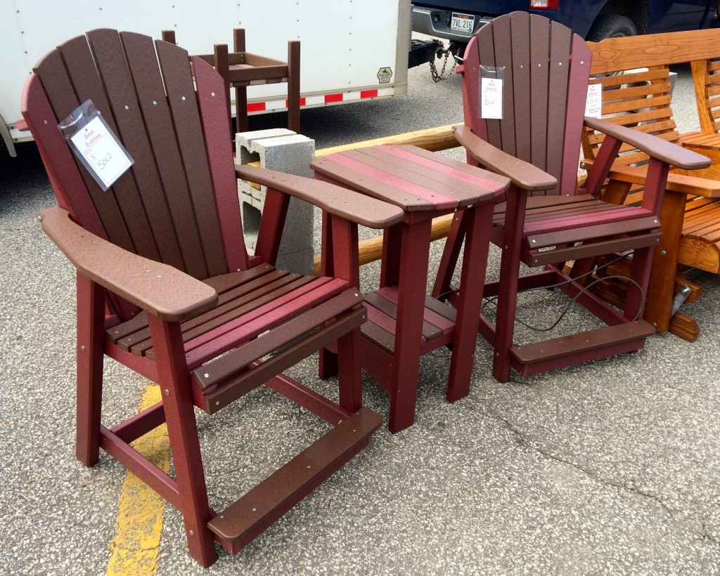 tall table and chairs desk chair trendy poly adirondack counter height set amish