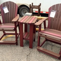 Adirondack Chair Wood Small Drop Leaf Table With 2 Chairs Poly Counter Height And Set | Amish Traditions Wv