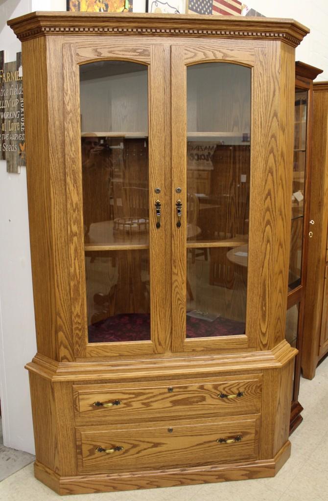 17 Gun Traditional Corner Gun Cabinet  Amish Traditions WV