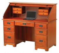 54 Murphy Computer Rolltop Desk | Amish Traditions WV