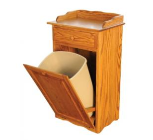 Solid Wood Trash Bin  Amish Valley Products