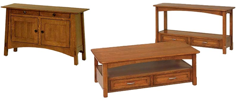 amish built sofa tables sack woodworking handcrafted furniture made in the usa offers a line of custom handmade hall to fit your specific requirements choose from one our existing mission style table