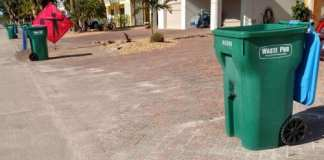 Side yard trash pickup