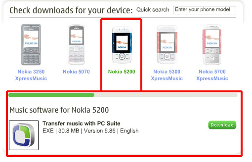Nokia 5200 Music Software