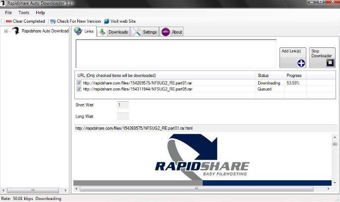 Rapidshare online.