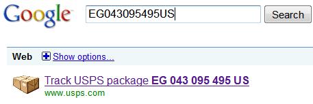 Google Track USPS Package