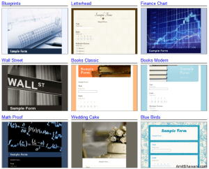 Google Docs Form Themes