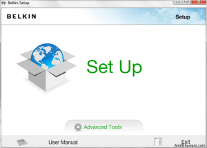 Belkin Setup Page