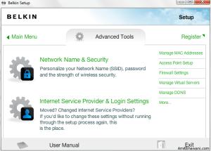 Network Setup Advanced Tools