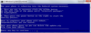 Android System Recovery Reboot